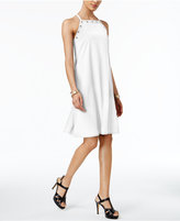Alfani Prima Grommet-Trim A-Line Dress, Created for Macy's