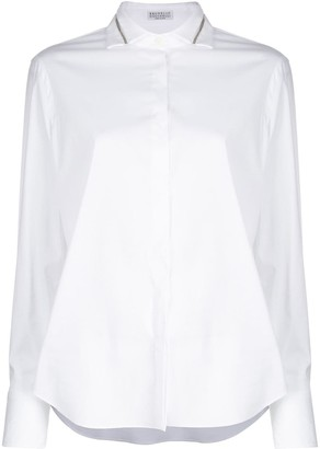Brunello Cucinelli Spread-Collar Shirt