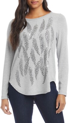 Karen Kane Feather Print Top