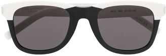 Saint Laurent Eyewear Two Tone Square Sunglasses