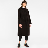 Paul Smith Women's Black Shearling-Sheepskin Long Coat