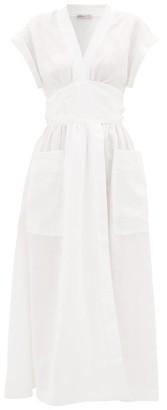 Three Graces London Clarissa Linen Wrap Dress - White