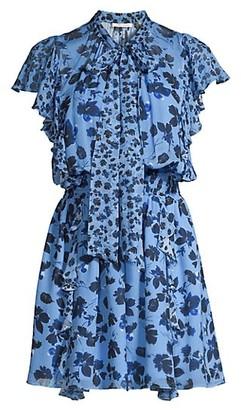 Shoshanna Rhodes Floral Print Mini Dress