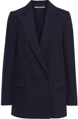 Stella McCartney Milly Double-breasted Pinstriped Wool-blend Blazer