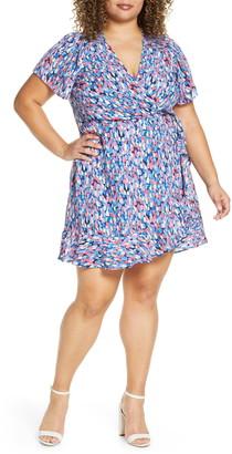 Gibson x International Women's Day Steph Taylor Jackson Smocked Shoulder Ruffle Wrap Dress