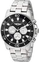 I by Invicta Invicta Men's 'I by Invicta' Quartz Stainless Steel Casual Watch, Color:Silver-Toned (Model: IBI43619-001)