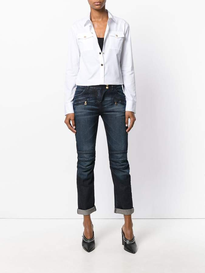 Balmain classic cropped jeans