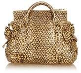 Miu Miu Pre-owned: Printed Leather Vitello Handbag.