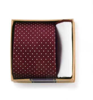 Tie Bar Burgundy Tie Box Gift Set