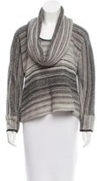 Yigal Azrouel Leather-Trimmed Knit Top