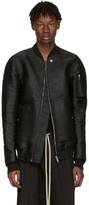 Rick Owens SSENSE Exclusive Black Horsehair Flight Jacket