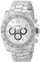 August Steiner Men's AS8095SS Swiss Quartz Multifunction Silver-tone Dial Silver-tone Bracelet Watch