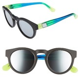 Westward Leaning Women's 'Voyager' 48Mm Sunglasses - Black Matte/ Neon Green