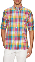 Hickey Freeman Woven Button-Down Sportshirt