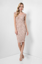 Terani Couture Sophisticated Cap Sleeve Lacy Dress 1621C1278