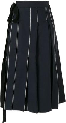 Sara Lanzi pleated Pareo skirt