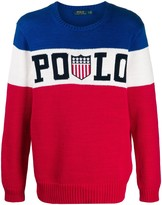 Polo Ralph Lauren tricolour badge sweater