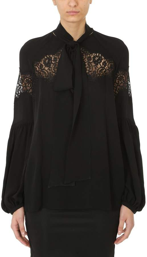 Givenchy Black Lace Blouse