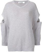Jil Sander cashmere cut-off detailing jumper