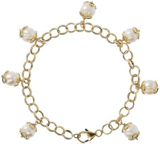 "Honora 8"" Cultured Pearl Charm Bracelet, 14K"
