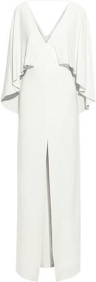 Halston Cape-back Crepe Gown