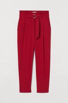 H&M Paper-bag Pants - Red