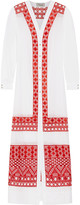 Temperley London Amalfi broderie anglaise cotton and silk-blend maxi dress