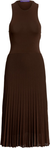 Thumbnail for your product : Ralph Lauren Pleated Racerback Knit Day Dress