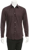 John Varvatos Fleur De Lis Button-Up Shirt