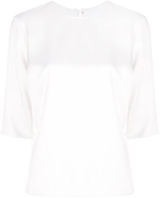 Peter Cohen short-sleeved silk blouse