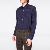 Paul Smith Men's Tailored-Fit Navy Poplin Shirt