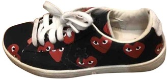 Comme des Garcons Converse X Play Black Cloth Trainers