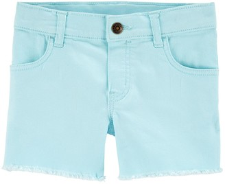 Carter's Girls 4-14 Frayed-Hem Twill Shorts