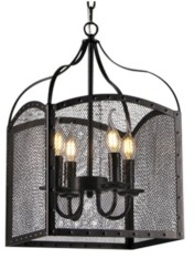"Home Accessories Mirdra 15"" 4-Light Indoor Pendant Lamp with Light Kit"