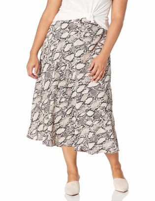 Nine West Women's Plus Size Printed Flare Skirt