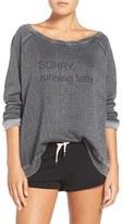 The Laundry Room Women's 'Running Latte' Graphic Sweatshirt