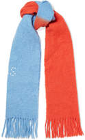 Acne Studios Kelowna Embroidered Two-tone Felt Scarf