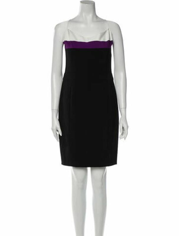 Narciso Rodriguez Square Neckline Knee-Length Dress w/ Tags Black