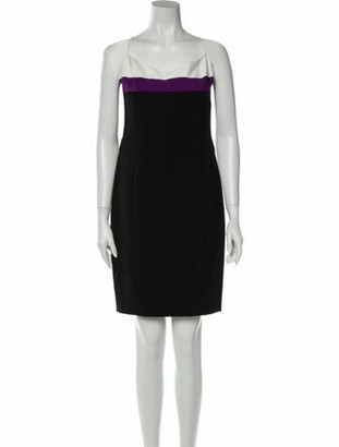 Narciso Rodriguez Square Neckline Knee-Length Dress w/ Tags Black