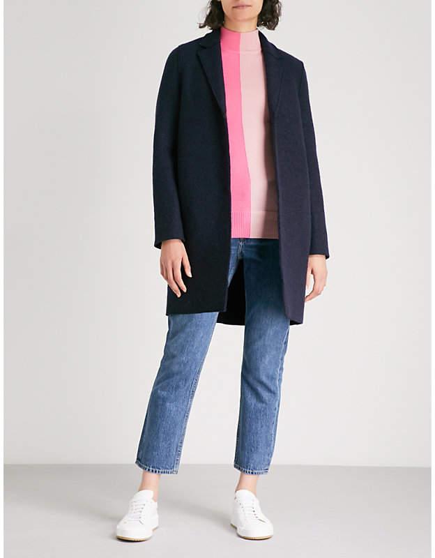 Harris Wharf London Cocoon boiled-wool coat