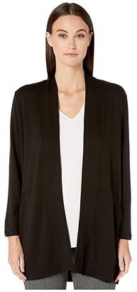 Eileen Fisher Tencel Stretch Terry Kimono Sleeve Jacket