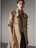 Burberry Resin Button Cotton Gabardine Oversize Trench Coat , Size: 14, Yellow