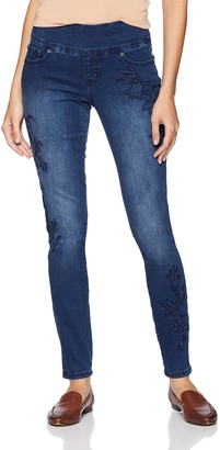 Jag Jeans Women's Nora Skinny Pull on Jean with Embroidery