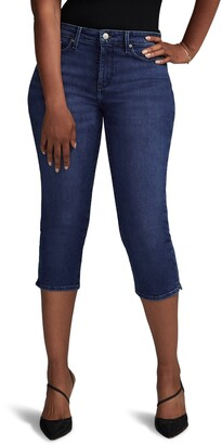 Curves 360 by NYDJ Slim Straight Capri Jeans