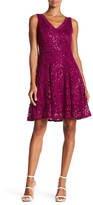 Marina V-Neck Sequin Dress