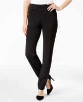 Charter Club Cambridge Houndstooth Ponte Slim-Leg Pants, Only at Macy's