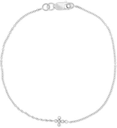 Ileana Makri Mini Cross 18-karat White Gold Diamond Bracelet