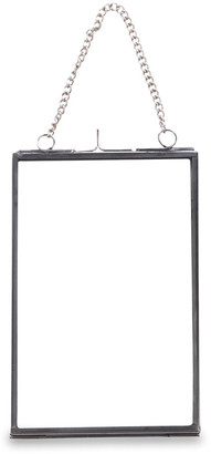 Nkuku Kiko Glass Photo Frame - Silver - Portrait - 4x6""