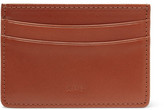 A.P.C. Leather Cardholder - Brown