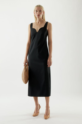Cos Sleeveless Fluid Wool Mix Dress